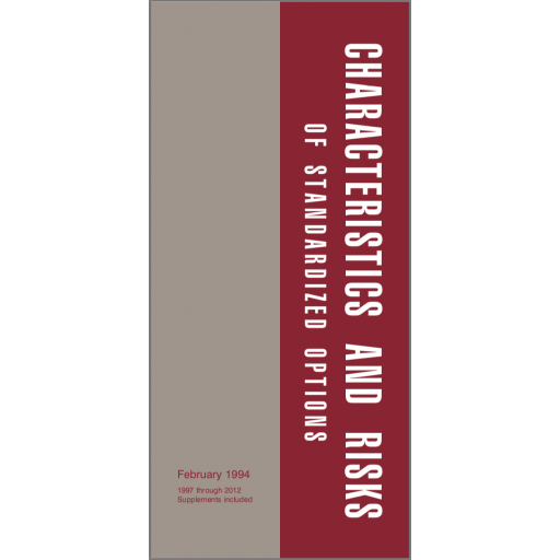 Characteristics And Risks Of Standardized Options Booklet